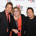 Alejandro Escovedo, WFUV's Rita Houston, and Garland Jeffreys. Edison Ballroom in New York City, May 9, 2013. Photo by Chris Taggart