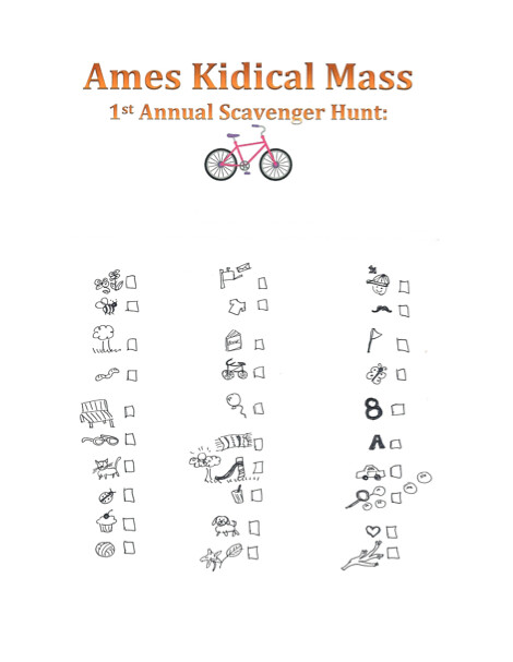Ames Kidical Mass Scavenger Hunt
