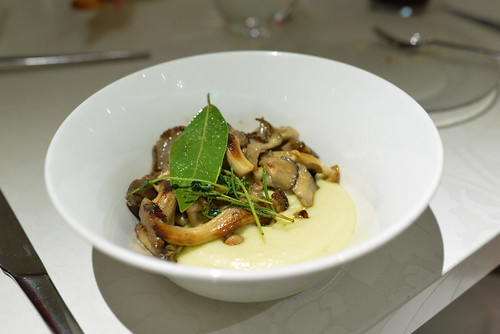 Setas Al Ajillo Con La Serena sautéed wild mushrooms with la serena potato purée