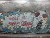Wolf in sheep's clothing, graffiti, Leake Street