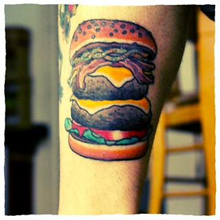Yummy Burger Tattoo!