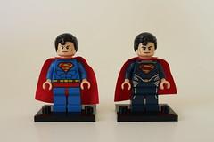 Superman Minifigure Comparison