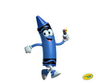 Crayola Blue Crayon Running