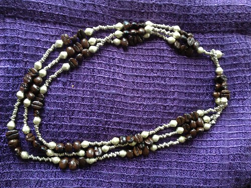 Coffee bean bracelet from Ethiopia