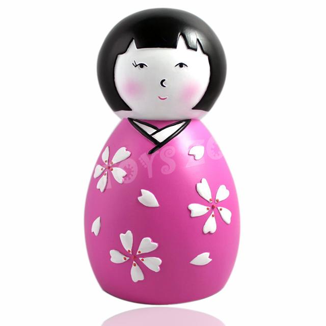 Japanese kimono doll novelty coin counting piggy bank money box ebay - Counting piggy bank ...