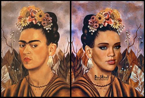 Rihanna Kalho BEFORE and AFTER