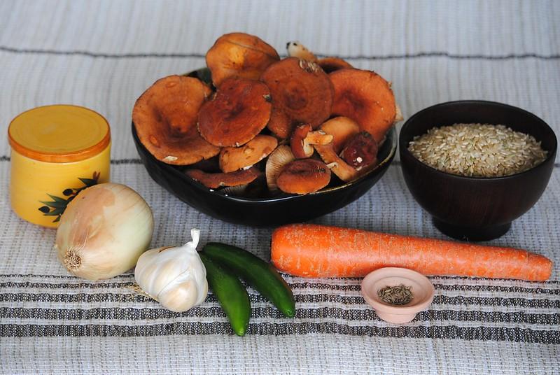 Плов с грибами