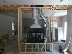 Wood ZC Fireplace Install