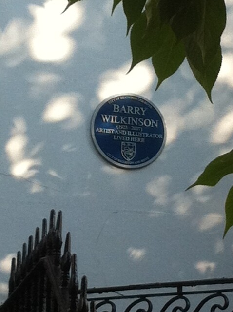 Photo of Barry Wilkinson blue plaque