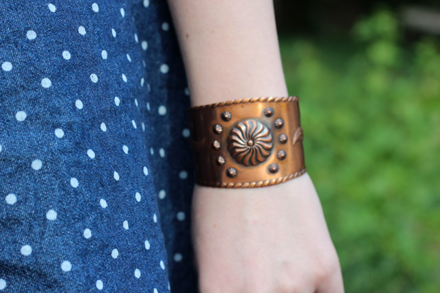 bronze vintage cuff bracelet