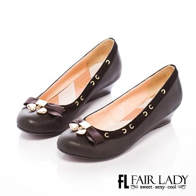 Fair Lady shoes 愛心飾楔型鞋