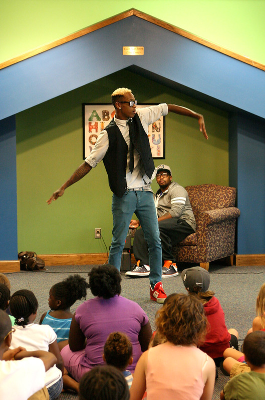 Tamall Calloway at GPL Summer Reading Program
