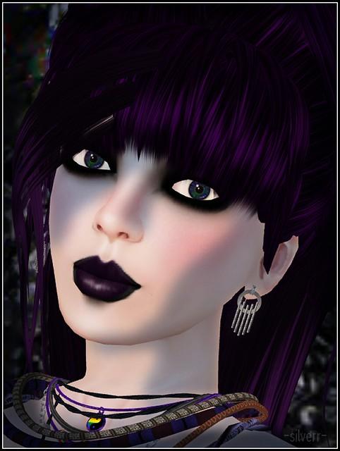 blue-eyed goth
