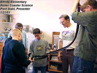 Elfrida Elementary, Roller Coaster Science, Fred Stahl (Presenter), January 21, 2003
