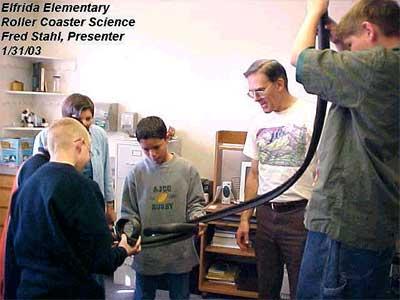 Elfrida Elementary, Roller Coaster Science, Fred Stahl (Presenter), January 21, 2003