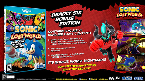 Sonic Lost World Deadly Six Bonus Edition (North America)
