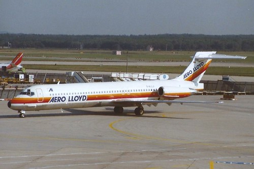 FRANKFURT OCT 1989 AERO LLOYD DOUGLAS MD87 D-ALLJ