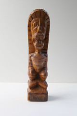 brown, wood, sculpture, tan, tiki,