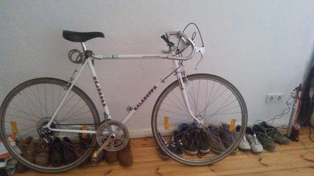 Una bicicleta de carreras