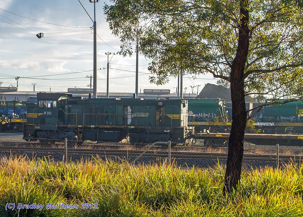 P20 with #9201 down hospital train at Nth Geelong (28/8/2013) by Bradley Matthews