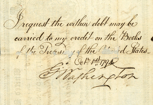 Archives Washington Back Signature