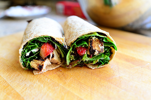 Grilled Chicken & Strawberry Wrap