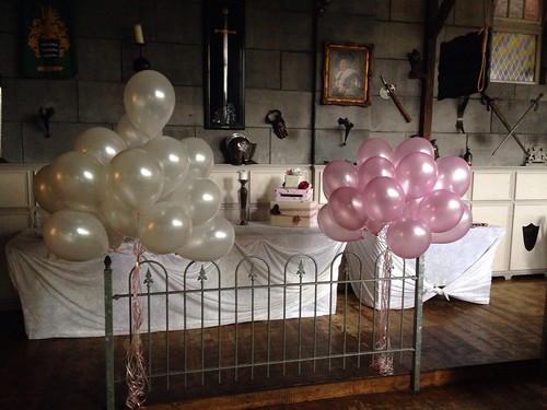 Heliumballonnen Roze Wit Wapen van Poortugaal