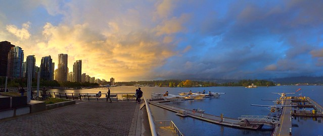 #iphone #pano of Coal Harbour. #Vancouver