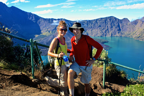 exhausted and excited to make it to the top. so lucky that the crater wasn't clouded over