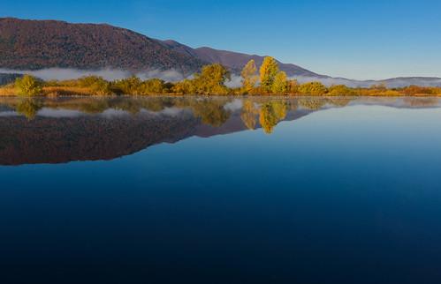 morning autumn fall fog landscape geotagged slovenia slovenija jesen jutro megla cerknicalake cerkniškojezero