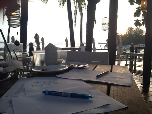 Songwriting by the beach