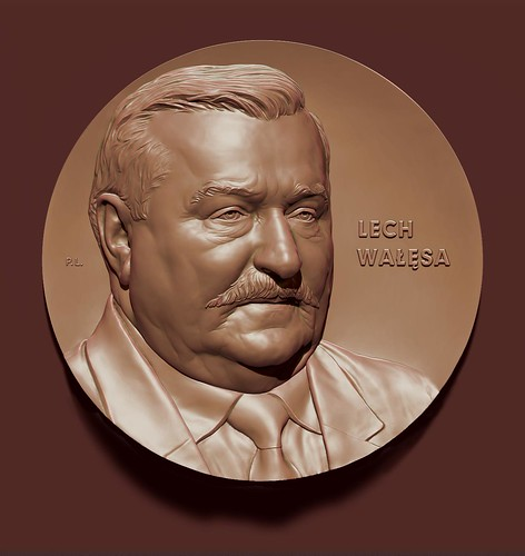 Piotr Lesniak - Medal L. Walesa Awers by Piotr Lesniak - Illustrations Portfolio