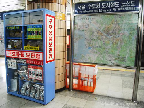 Altas medidas de seguridad en el interior del metro de Seúl