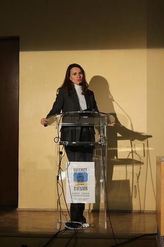 Aurélie Filippetti à l'Université d'Avignon
