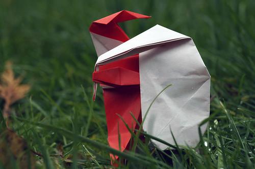 Origami Santa Claus caring the Sack (Norio Torimoto)