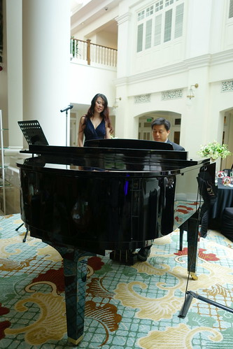 Soothing jazz music to relax to while sipping Champagne. InterContinental Singapore. Sunday Champagne Brunch