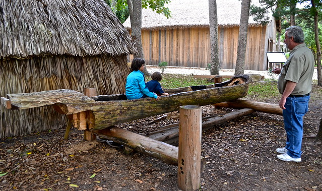 Fountain of Youth - Ponce de Leon, St. Augustine Florida - Tequesta Indian canoe