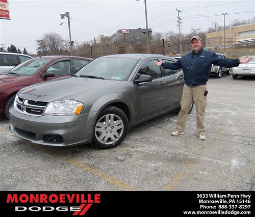 Happy Anniversary to Roy S Nedley on your 2013 #Dodge #Avenger from James Platt  and everyone at Monroeville Dodge! #Anniversary by Monroeville Dodge