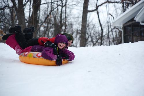 Front-yard sledding
