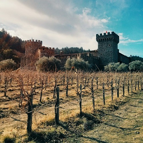 Castello Di Amorosa in Napa. A Tuscan castle in the middle of the American wine country.