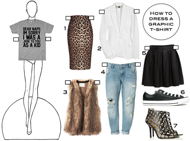 How to Dress a Graphic T-Shirt