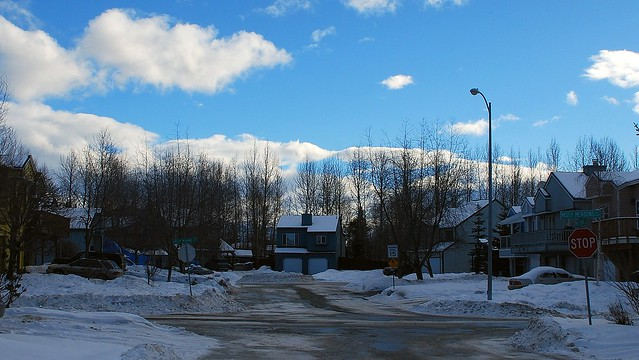 Alaska Anchorage Residential Area