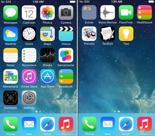 скриншоты iOS 8