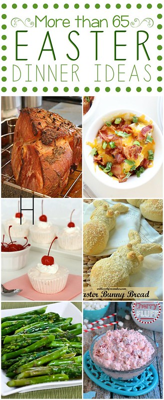 Easter Dinner Ideas collage.