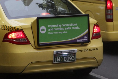 Rear taxi advertising from 'Ultimate Media'