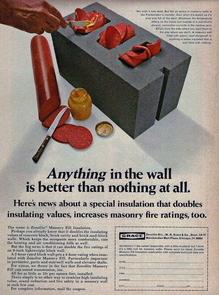 Wr Grace Zonolite Insulation Wall Fill Ad Asbestos Contam