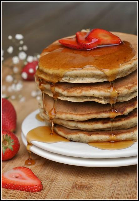 Banana Wheat Germ Pancakes 1