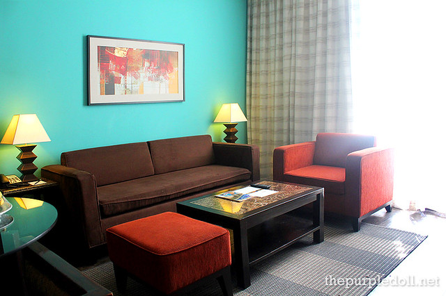B Hotel Alabang Penthouse Suite Living Area