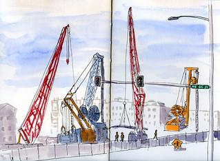 5-1-14 Sound Transit Roosevelt Station construction site, Seattle
