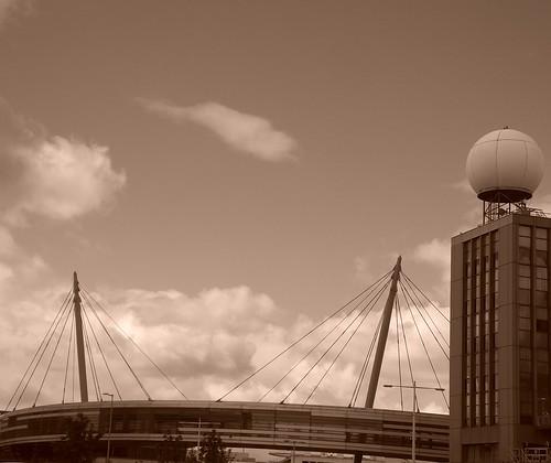 ireland dublin irish sepia buildings airport hangar skybridge dub dublinairport dublincity dt1 mscp